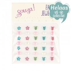 Plakoorbellen bloemen / hartjes | Souza for Kids -