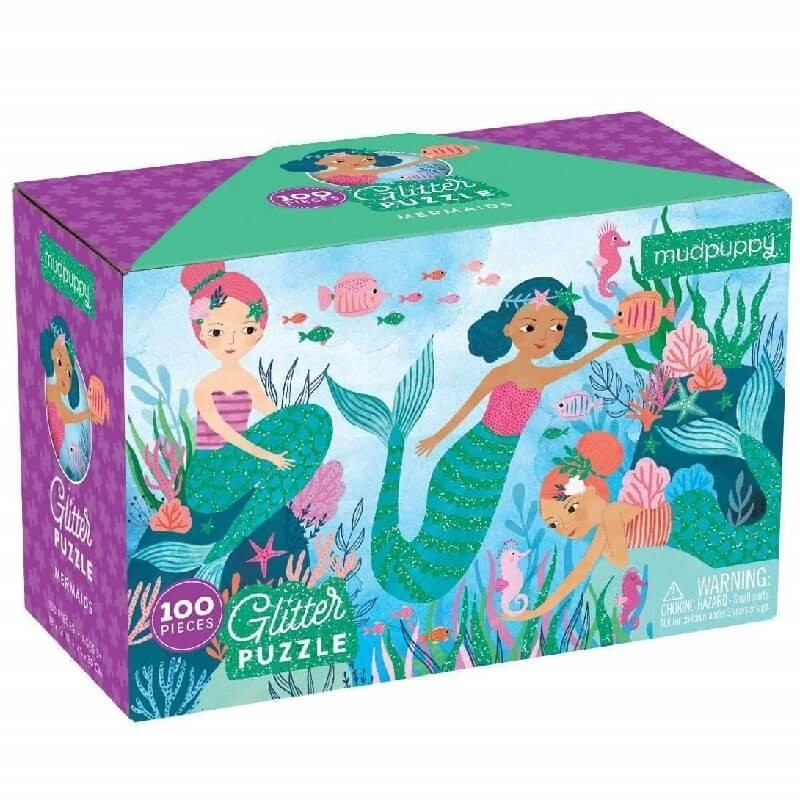 Glitter puzzel Zeemeerminnen | Mudpuppy -