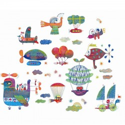 Raamstickers Sky Traffic | Djeco -