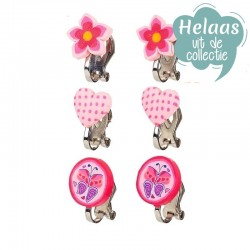 Oorclips Roze / Fuchsia | Souza for Kids -