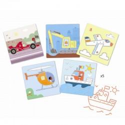 Sjablonen Transport | Djeco -