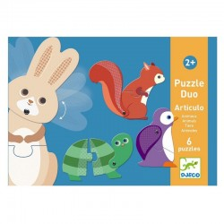 Duo puzzel Articulo Animals | Djeco -