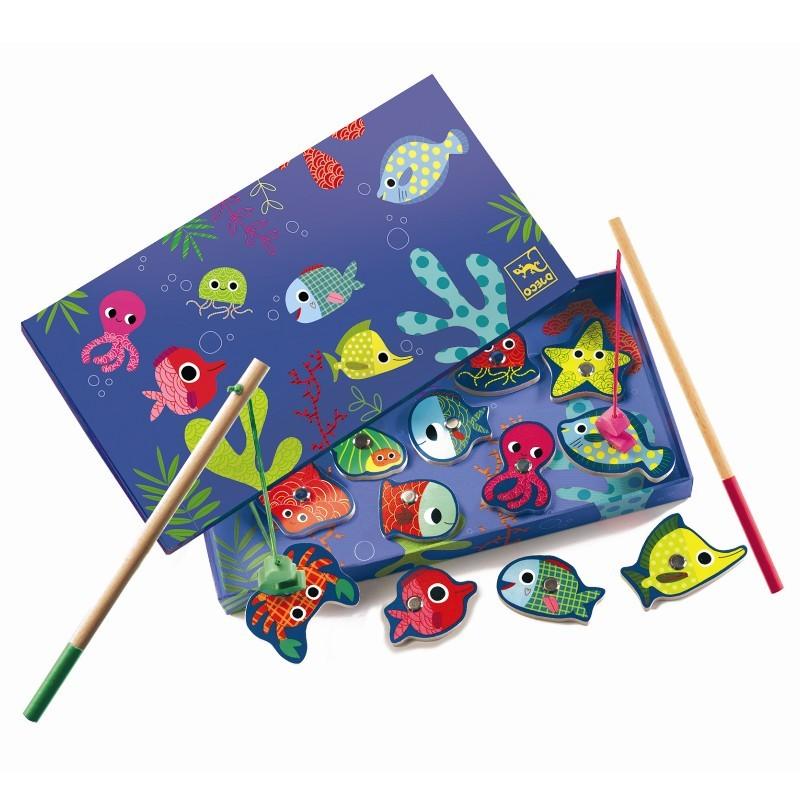 Visjes vangen kleurrijke vissen | Djeco -