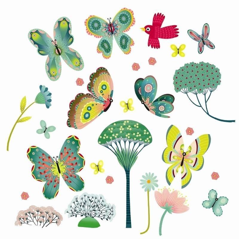 Raamstickers Vlinders | Djeco -