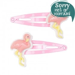 Haarspeldjes Lora flamingo roze | Souza for Kids -