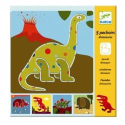 Sjablonen Dinosaurus | Djeco -