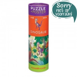 Puzzel & poster Dino | Crocodile Creek -