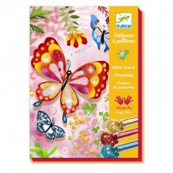 Glitterschilderijtjes Vlinders | Djeco -