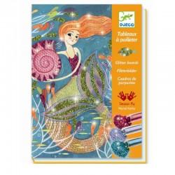 Glitterschilderijtjes Zeemeermin | Djeco -