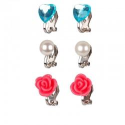 Oorclips Hila roze/blauw | Souza for Kids -