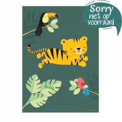 Poster Jungle Tijger | A Little Lovely Company -