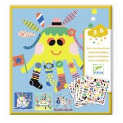 Creëer met stickers Zeedieren | Djeco -