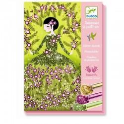 Glitterschilderijtjes Dresses | Djeco -