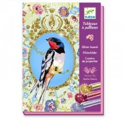 Glitterschilderijtjes Birds | Djeco -