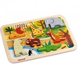 Chunky puzzel Dierentuin dieren | Janod -