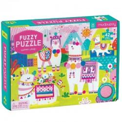 Fuzzy puzzel Llama Land | Mudpuppy -
