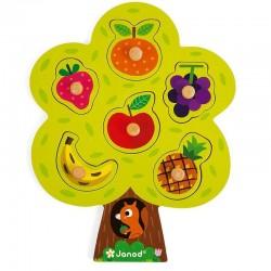 Houten knop puzzel Fruitboom | Janod -