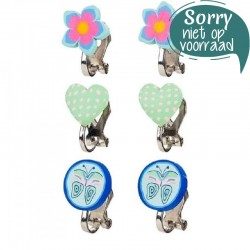 Oorclips Blauw / Mint | Souza for Kids -