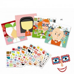 Creëer met stickers All Different | Djeco -