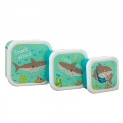 Snackdoosjes set Shark | Sass & Belle -