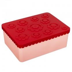 Broodtrommel bloemen rood /roze | Blafre -