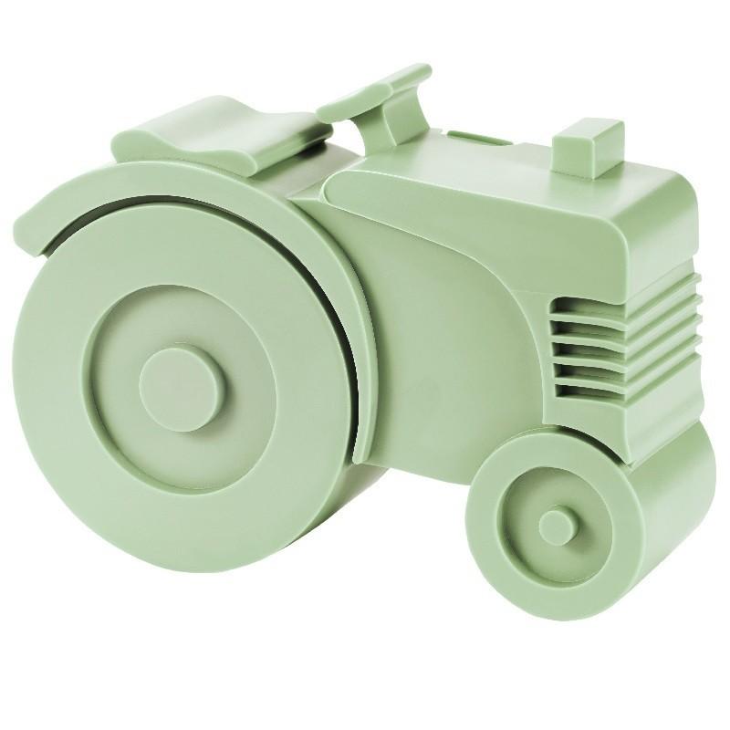 Broodtrommel Tractor lichtgroen   Blafre -