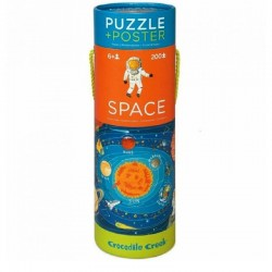Puzzel & poster Space | Crocodile Creek -