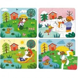 Houten puzzels 4 Seizoenen | Vilac -