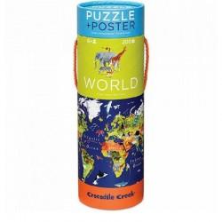 Puzzel & poster Wereld | Crocodile Creek -