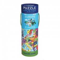 Puzzel & poster Europa | Crocodile Creek -