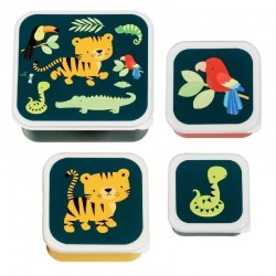 Lunch & Snackbox set Jungle | A Little Lovely Company -