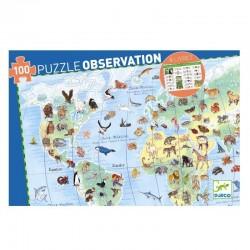 Observatie puzzel Wereld Dieren | Djeco -