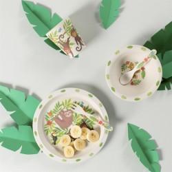 Bamboe servies Jungle Friends | Sass & Belle -