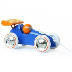 Houten Race trekauto Oranje | Vilac -