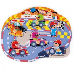 Knop puzzel Transport / Racing | Janod -