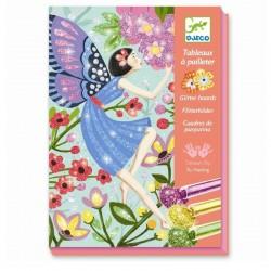 Glitter schilderijtjes Fairies | Djeco -