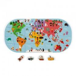 Bad puzzel Wereldkaart | Janod -