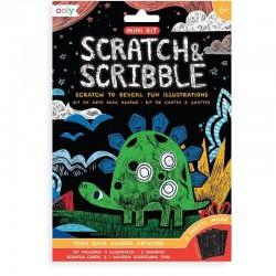 Scratch & Scribble Kraskaarten Dino | Ooly -