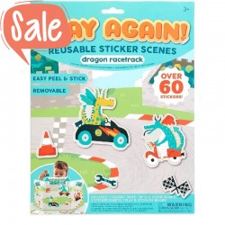 Play Again Stickers Race Circuit | Ooly -