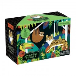 Glow in the Dark Puzzel Rainforest | Mudpuppy -