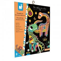 Kras kaarten Scratch Dinosaurus   Janod -