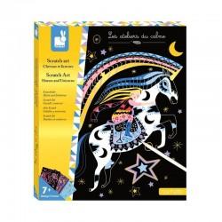 Kras kaarten Scratch Eenhoorns en Paarden | Janod -