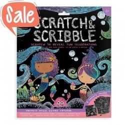 Scratch & Scribble Kraskaarten Zeemeerminnen   Ooly -
