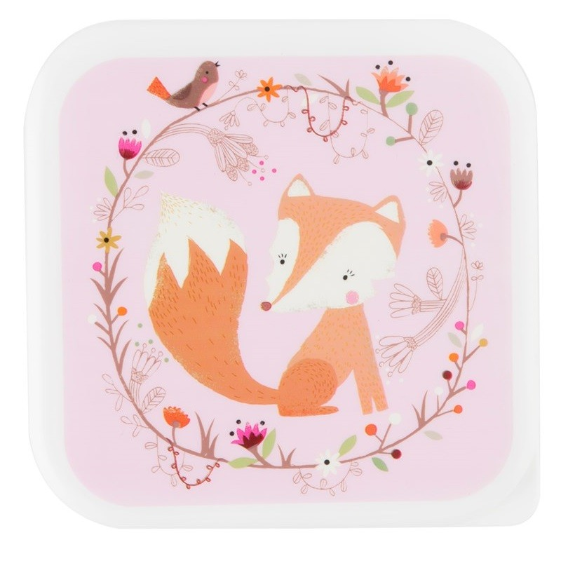 Broodtrommel Woodland Friends vos | Sass & Belle -