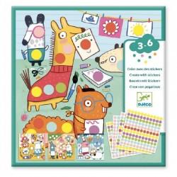 Creëer met stickers Dots | Djeco -