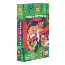 Kleurset Hidden Pattern Animals | Tiger Tribe -
