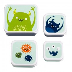 Lunch & Snackbox set Monsters | A Little Lovely Company -