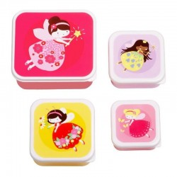 Lunch & Snackbox set Fairies | A Little Lovely Company -