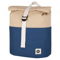 Roll top Rugzak Navy / Beige | Blafre -