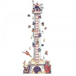 Muurstickers Groeimeter Riddertoren | Djeco -
